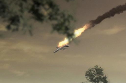 Během jediného okamžiku se k zemi řítila dvě letadla