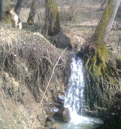 Vodopád za dědinů
