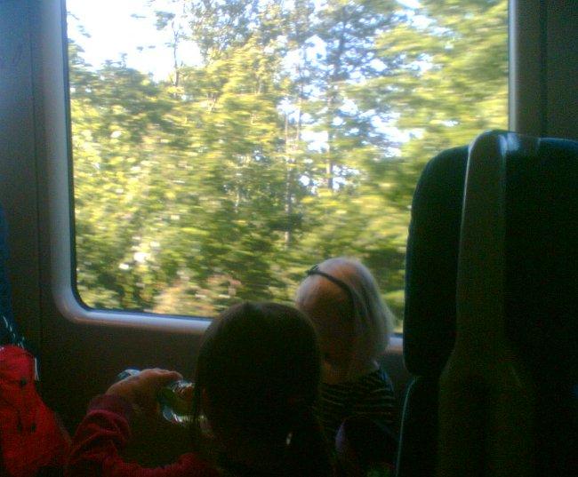 Cestování ve vlaku pronajatém ČD v Německu působí příjemně navzdory množství školáků na výletě k Machově jezeru