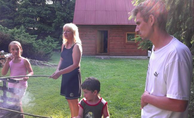 Na zpáteční cestě z Německa se zastavil mladší synovec dědy Ládi se synem